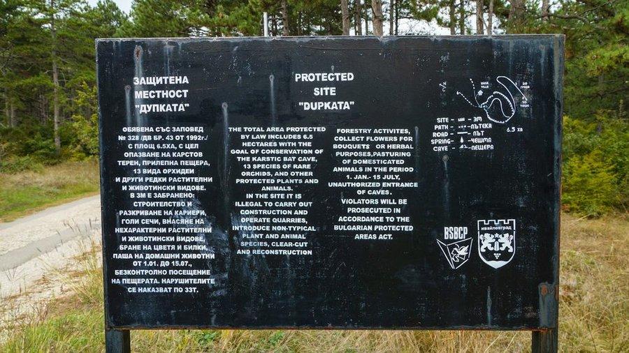 Защитена местност Дупката