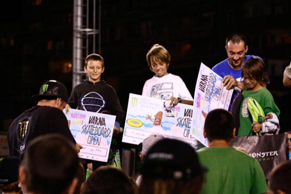 Varna Skateboard Open 2011 - награди.