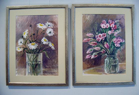Акварели - цветя на Севда Драгнева