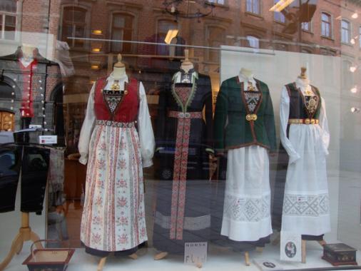 Бриген (Берген, Норвегия) - магазин за национални костюми.
