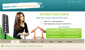 Apply Loan Instant Decision- Instant Loans Bad Credit- Payday Loans Today