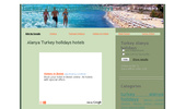 Alanya Turkey holidays hotels